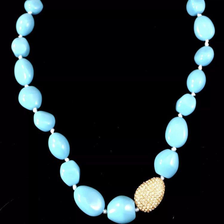 бирюзовый, ожерелье, винтажная бижутерия, янтарь, винтажный стиль