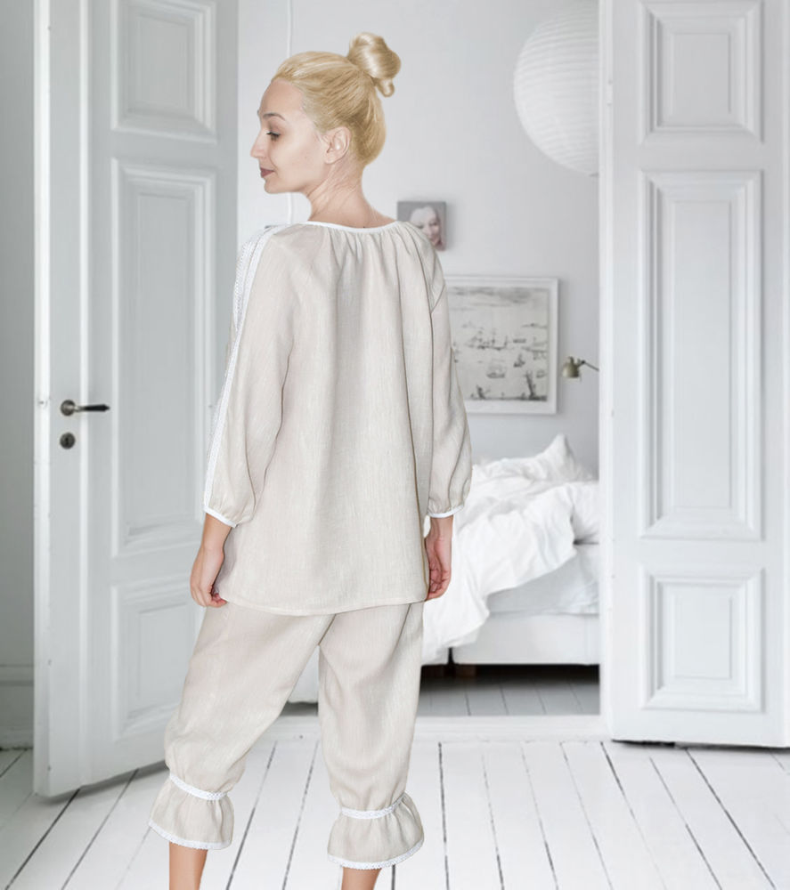 кружевное бельё, органическое, комплект, ретро стиль, пижама женская, панталоны женские