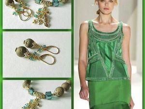Анонс! Браслет и серьги Лесные нимфы от Olga Gardenia. Ярмарка Мастеров - ручная работа, handmade.