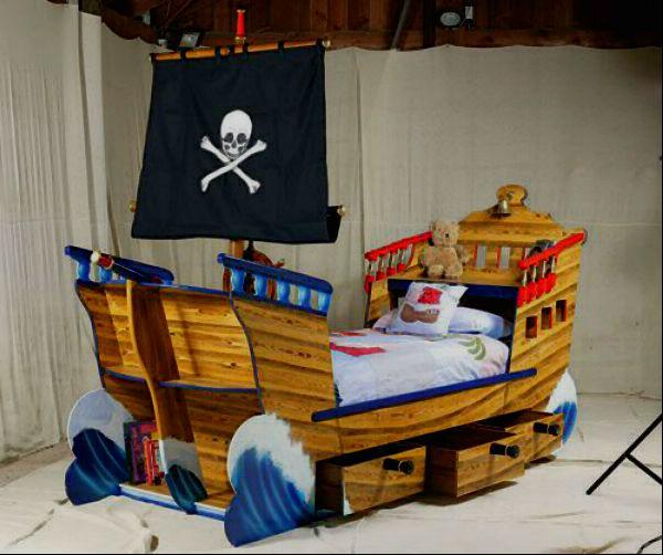 Кровать детская корабль своими руками 4