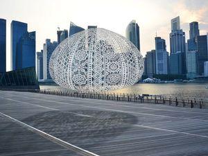 100-килограммовые вязаные ежи на фестивале iLight Marina Bay в Сингапуре. Ярмарка Мастеров - ручная работа, handmade.