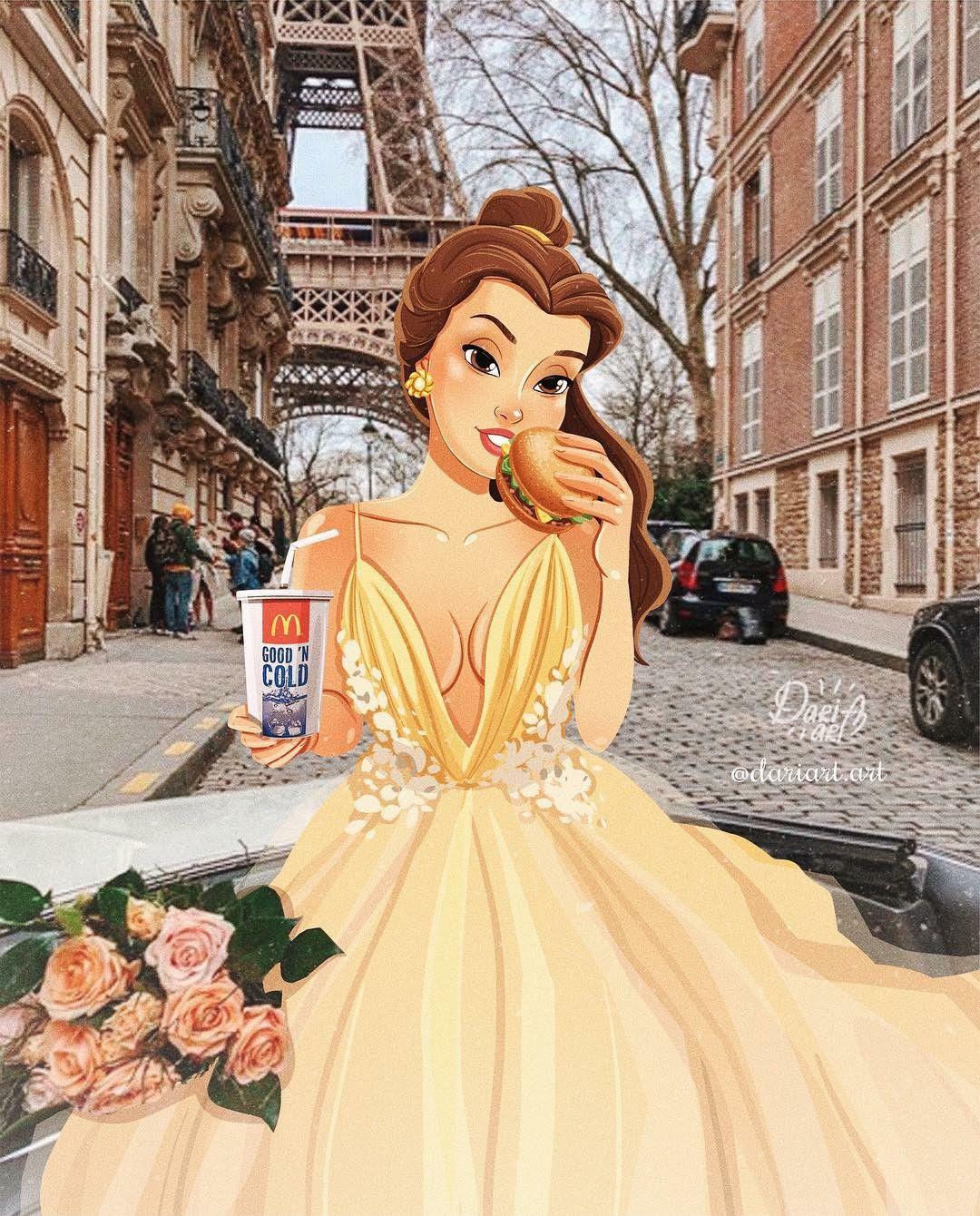 Диснеевские принцессы в реальной жизни: иллюстрации Даши Артемьевой