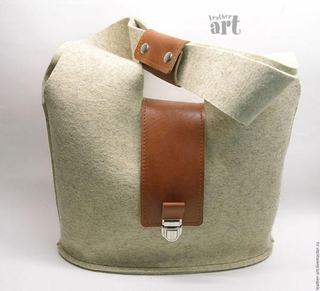 сумка из войлока