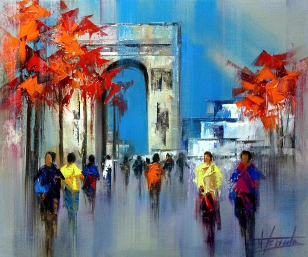 Особое очарование картин испанского художника Josep Teixido: смелая игра цвета и ничего лишнего   7984053d3484757abe003b8f7cy7