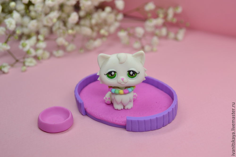 полимерная глина, видео урок, мастер класс для детей, кошка, игрушка котёнок