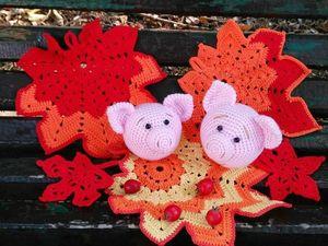 Начинаю готовиться к Новому году! Первые Свиношарики!. Ярмарка Мастеров - ручная работа, handmade.