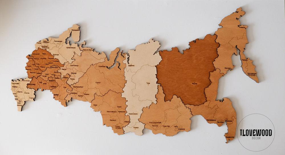 подарок, карта россии, карта из дерева, деревянная карта, карта пазл, карат мира, карта для стены, купить карту, купить карту из дерева