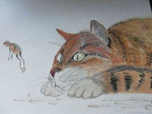 Удивленный рыжий кот нашел хозяйку.. Ярмарка Мастеров - ручная работа, handmade.