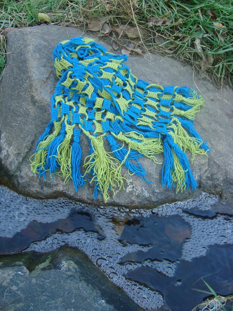 шарф, оригинальный шарф, шарф крючком