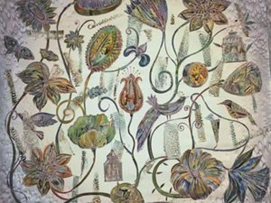 товары для творчества, товары для батика, холодный батик, натуральный шелк, роспись ткани, платок батик хэнд мэйд, горячий батик, французский стиль, батик с подмалевком