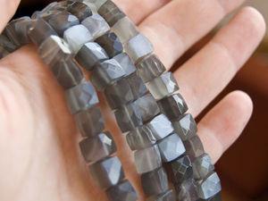 Новинки! Видео бусин шелкового лунного камня. Ярмарка Мастеров - ручная работа, handmade.