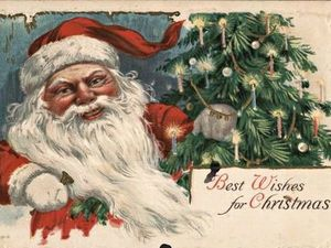 Образы зимнего волшебника в винтажных открытках прошлого столетия. Ярмарка Мастеров - ручная работа, handmade.