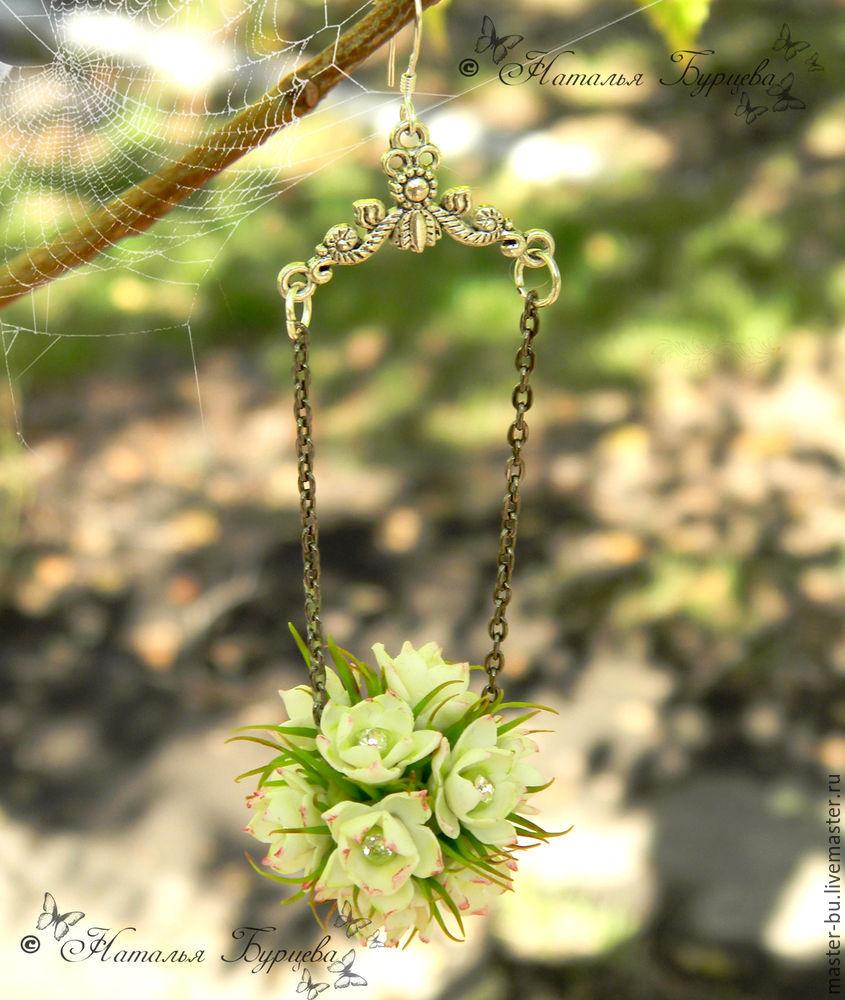 украшения с цветами, керамическая флористика