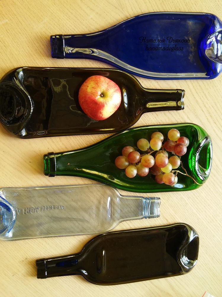 фьюзинг, подарок, пьяные бутылки, для интерьера