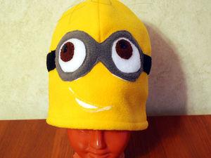 "Аукцион на шапку из флиса ""Миньон"". Ярмарка Мастеров - ручная работа, handmade."