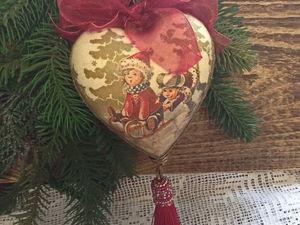 Новинка. Интерьерное сердце-подвеска.. Ярмарка Мастеров - ручная работа, handmade.