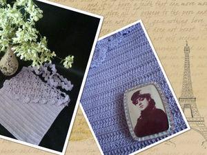 Необычные комплекты: вязаная сумка с  винтажной брошью | Ярмарка Мастеров - ручная работа, handmade