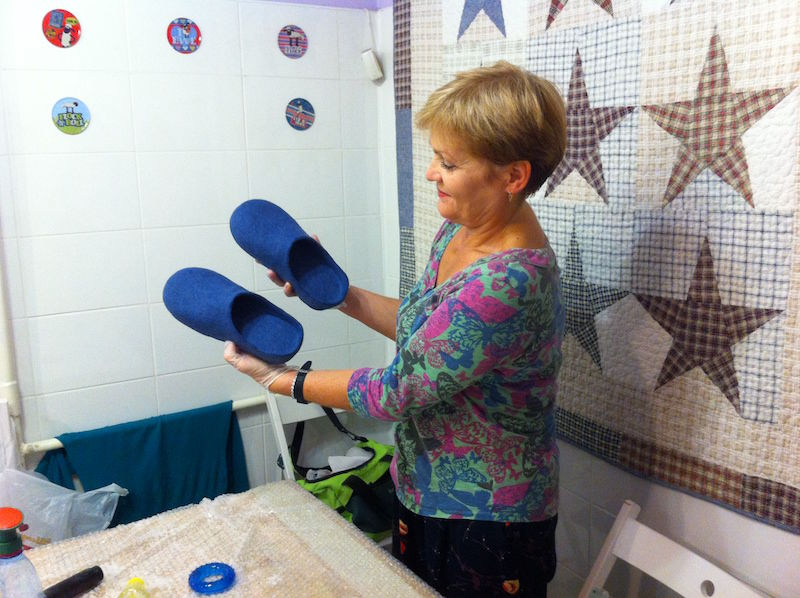 мастер-класс по валянию, свалять шлепанцы