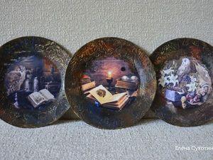 Новые интерьерные тарелки ко Дню библиотек   Ярмарка Мастеров - ручная работа, handmade