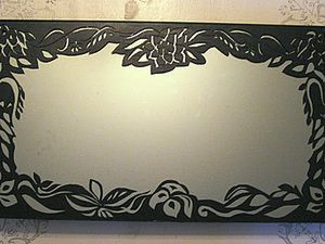 Acrylic Paint Lace, or Richelieu on a Mirror. Livemaster - handmade