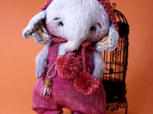 Тедди слоник Бруно из новой мини коллекции карапузов. Ярмарка Мастеров - ручная работа, handmade.