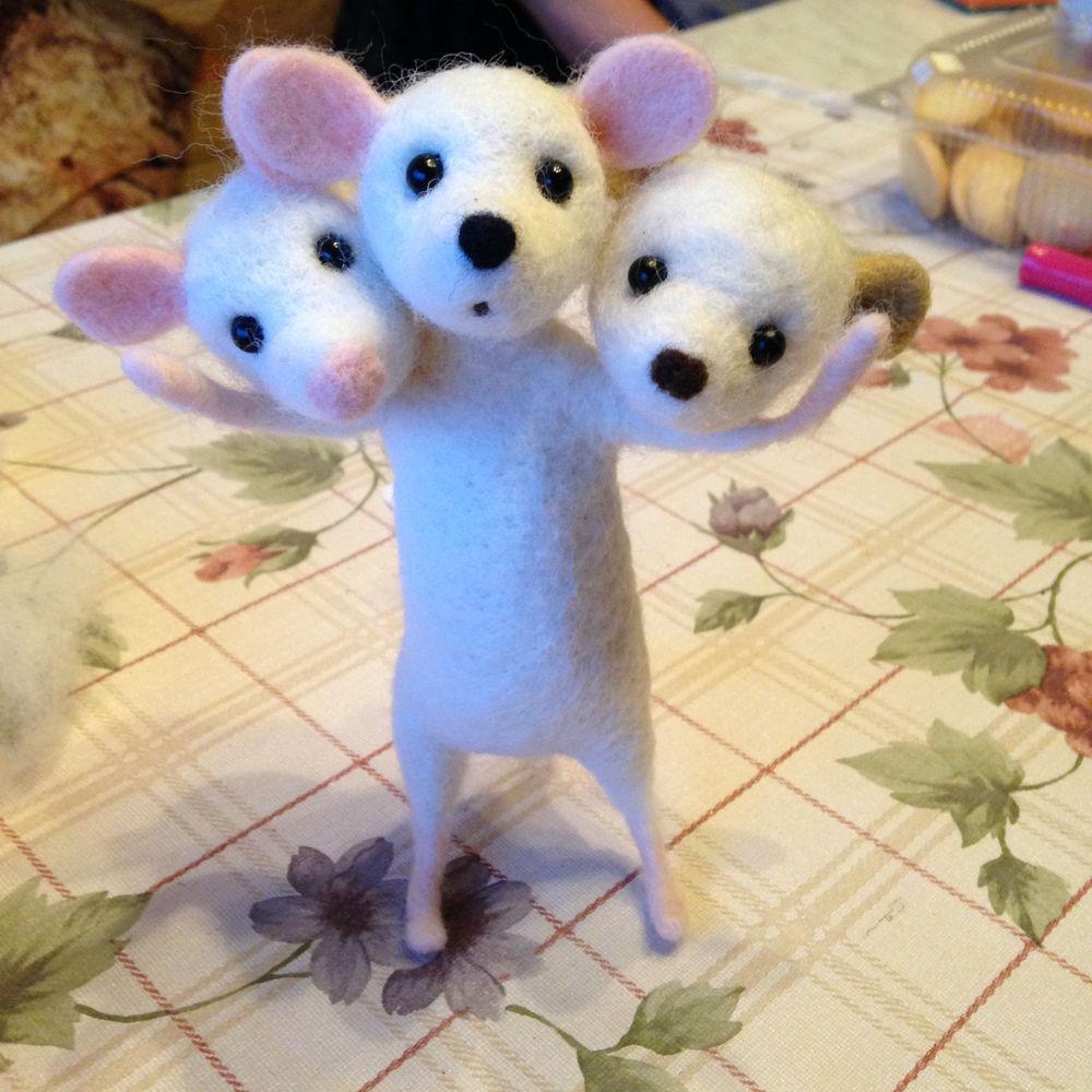 валяние мастер-класс, войлок для новичков, мышка из шерсти, игрушка из шерсти