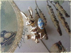 Мини-аукцион на брошь Пасхальный заяц!. Ярмарка Мастеров - ручная работа, handmade.
