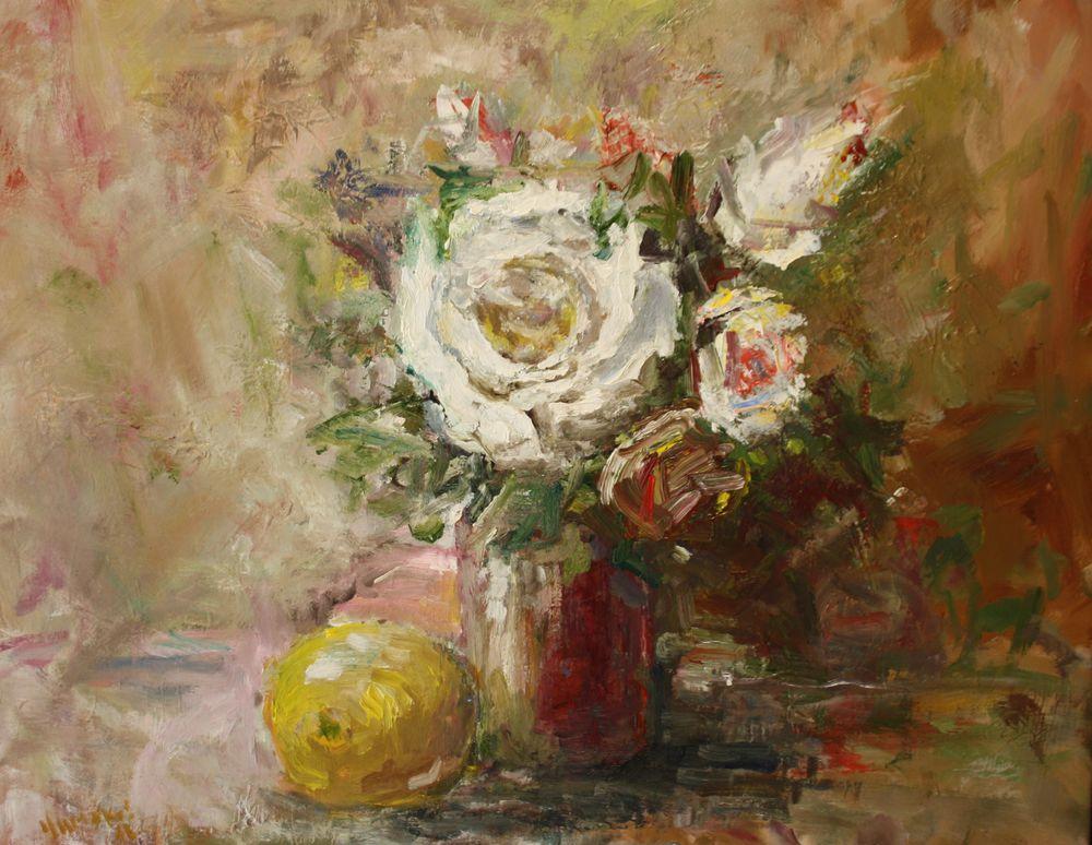 картины художников, купить в москве, картины маслом на холсте, картина натюрморт, цветы букет цветов
