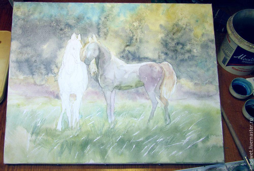 Как рисовать лошадок акварелью, фото № 9