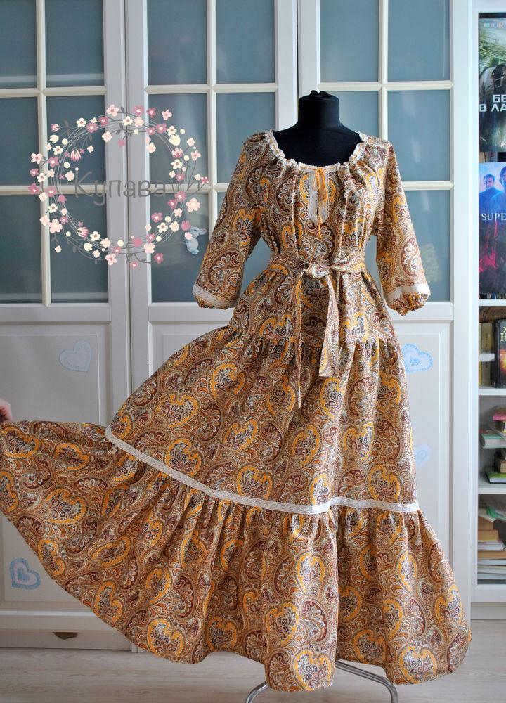 платье в пол, платье с кружевом, славянский стиль