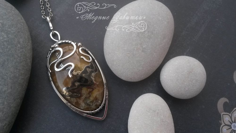 браслет серебро wire wrap