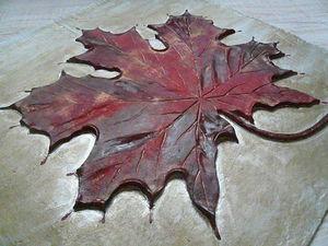 Декоративное панно «Кленовый лист». Ярмарка Мастеров - ручная работа, handmade.