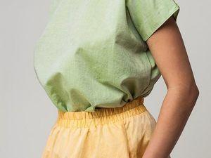 Блуза оверсайз YOKU из фисташкового хлопка со льном. Ярмарка Мастеров - ручная работа, handmade.