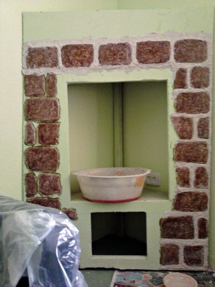 самодельный камин, камин мастер класс