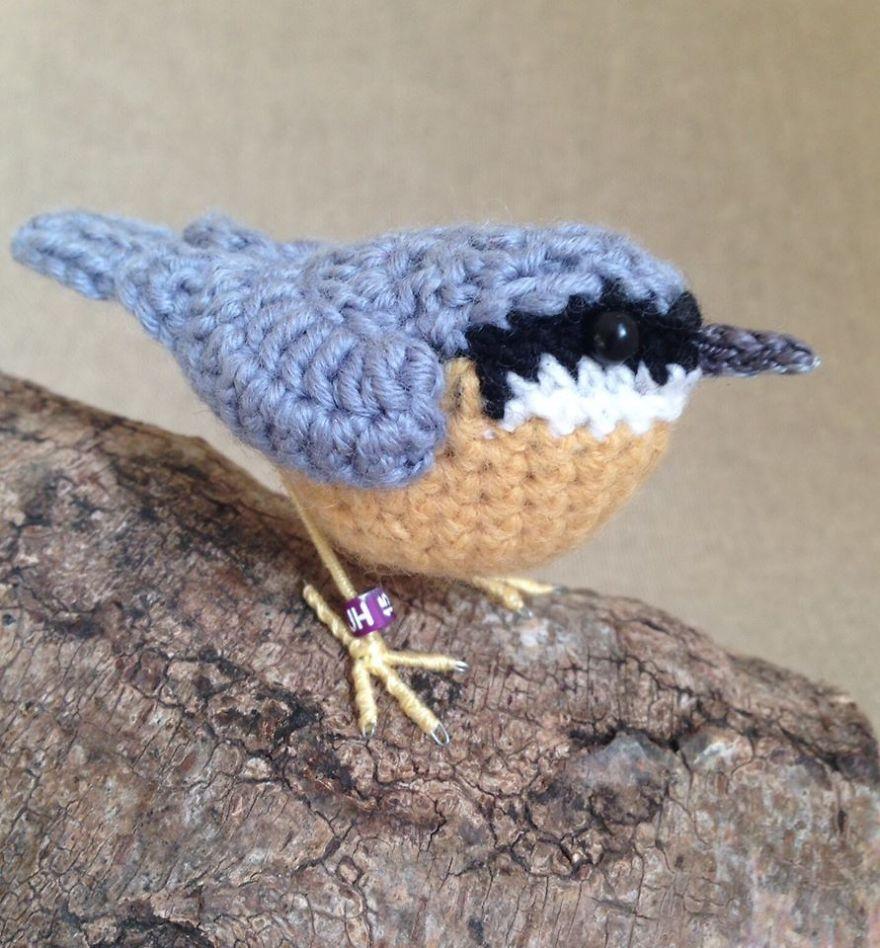 Вот-вот взлетят: реалистичные вязаные птицы Jose Heroys, фото № 17