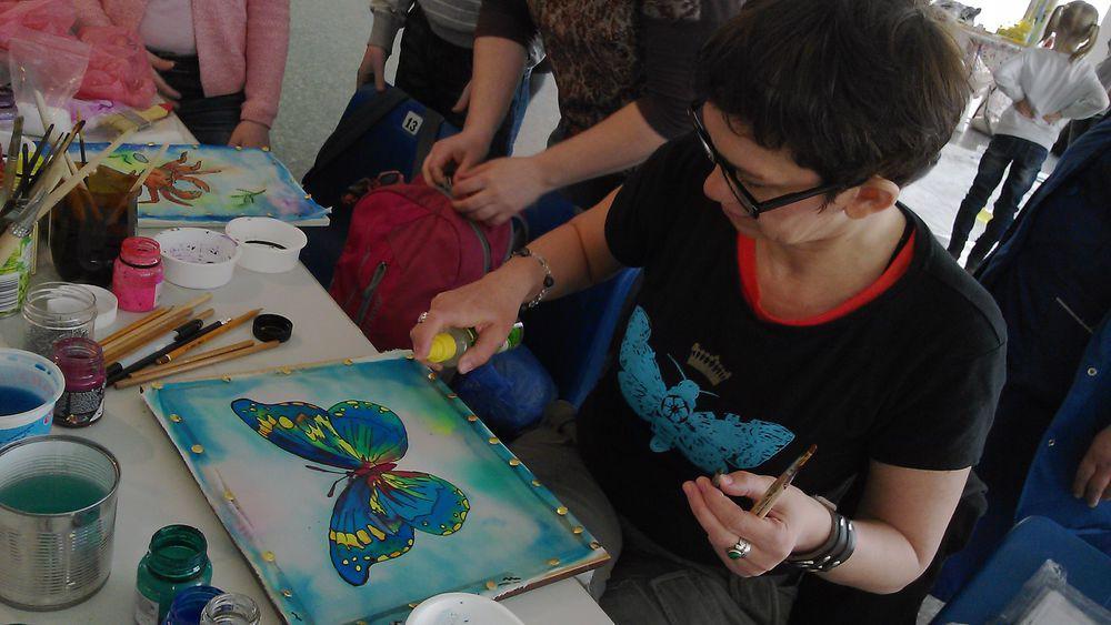 Мастер-класс по холодному батику (росписи по ткани)., фото № 12