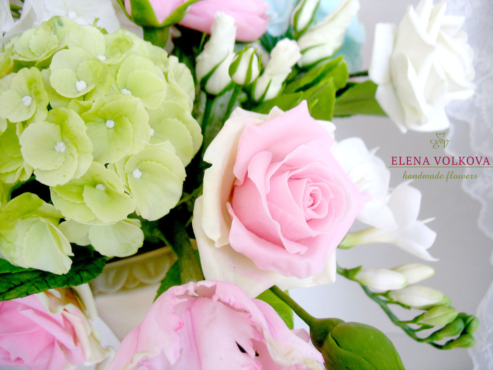 цветы полимерная глина