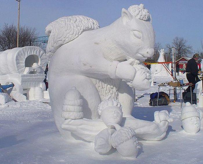 фигуры зимой