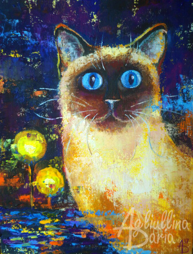 кошка, ночные огни, джаз, история, сказка
