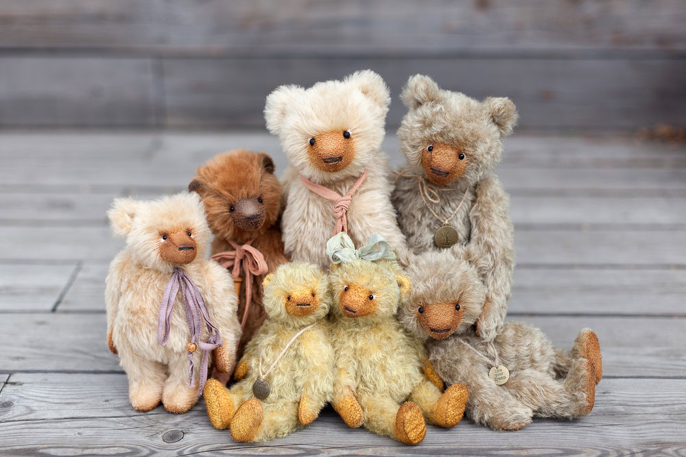 мишки моего детства, handmade bears