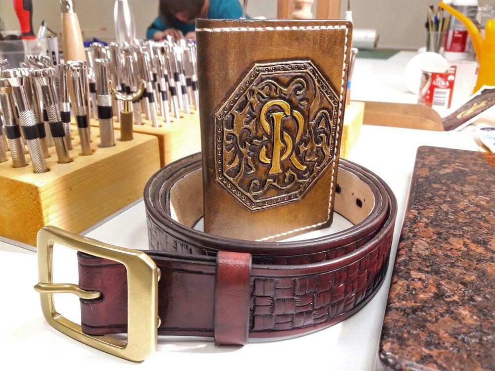 кошелёк, художественная обработка, кожаный браслет, монетница, мастер-класс