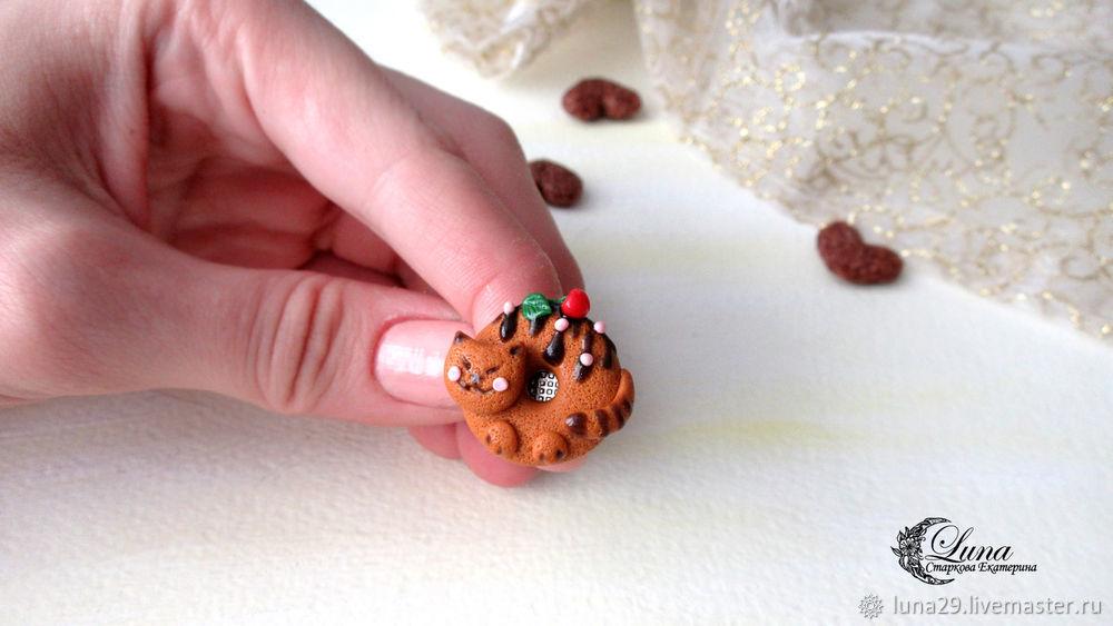 бижутерия, кольцо, пончик, кавайный, сладости из пластики, лепка из полимерной глины, украшения своими руками, мк для начинающих, мк по лепке