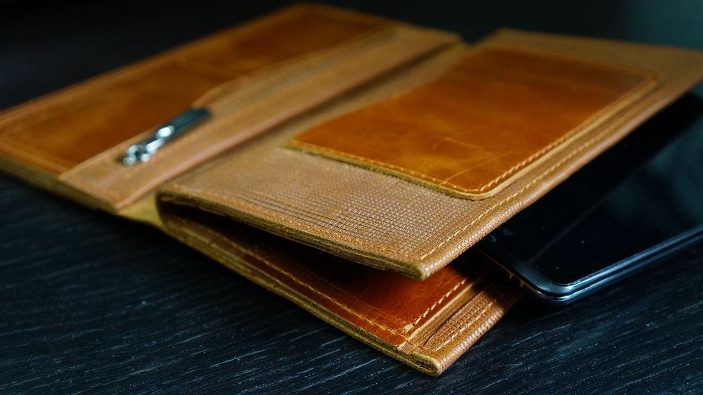 бумажник кожа