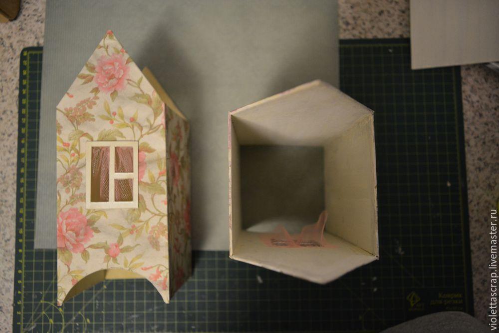 Мастер-класс: изготавливаем дуэт из чайных домиков с конфетницей, фото № 8