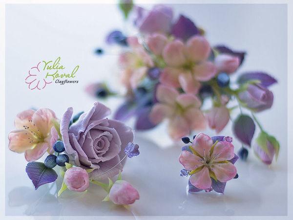 Свадьба... лето..цветы из глины | Ярмарка Мастеров - ручная работа, handmade