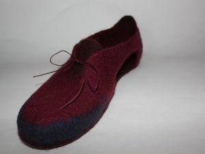 Войлочные туфельки для офиса или дома?. Ярмарка Мастеров - ручная работа, handmade.