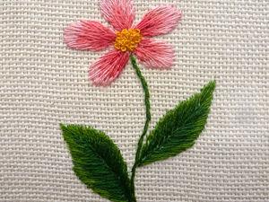 Вышиваем цветок гладью. Вышивка для начинающих. Ярмарка Мастеров - ручная работа, handmade.