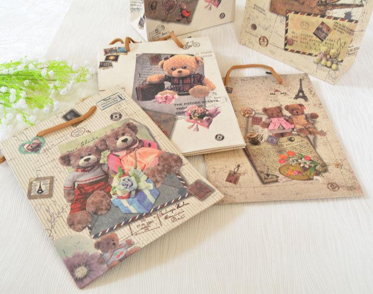 акция, подарок, подарки, цветы из полимерной глины, подарки ручной работы, цветы для дома, букет из глины, крафт-пакет, пакет с мишками