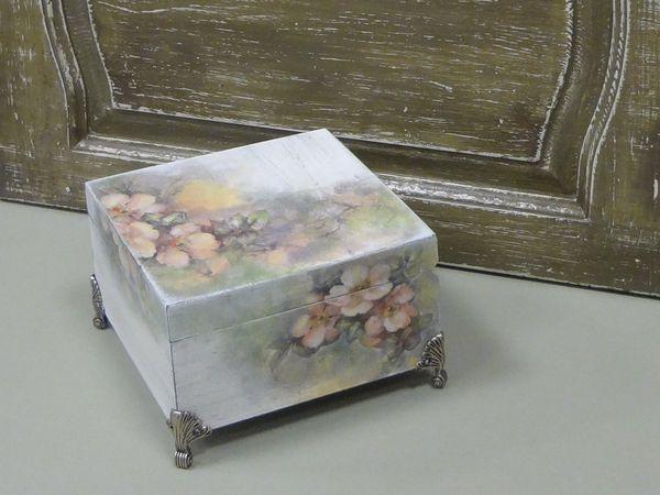 Творческая вечеринка. Художественный декупаж - Чайная коробка. | Ярмарка Мастеров - ручная работа, handmade