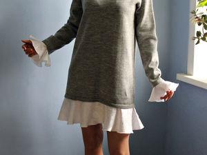 АУКЦИОН  на вязаное платье  ручной работы!. СТАРТ 2000 руб. Ярмарка Мастеров - ручная работа, handmade.